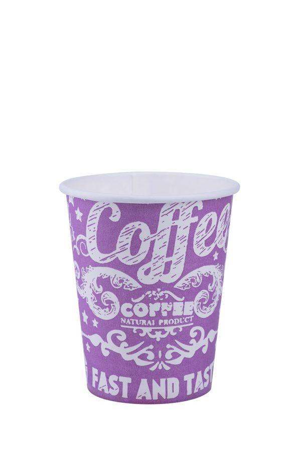 Бумажный стакан кофе фиолетовый