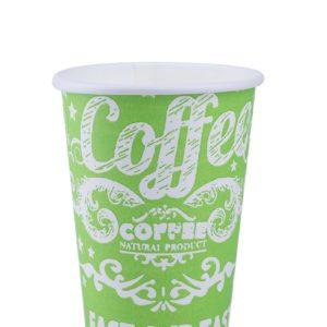 Бумажный стакан салатовый для кофе