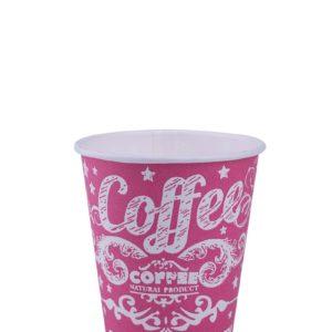 Бумажный стакан розовый