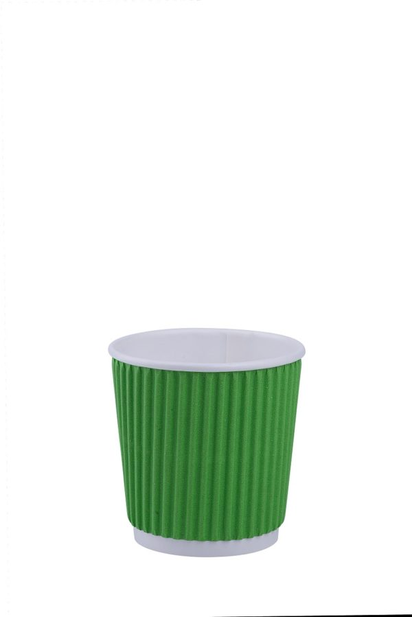 Стакан гофрированный Ripple 180 мл (зелёный)