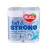 """Полотенца бумажные """"Ruta"""" Soft Strong 2 рулона 3 слоя, белые"""