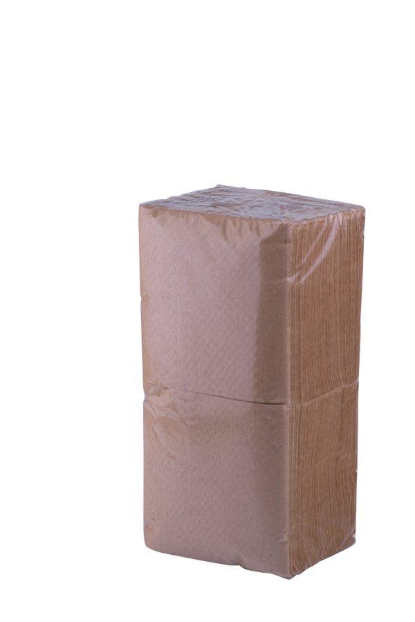 Салфетки бумажные 24х24 300л коричневые