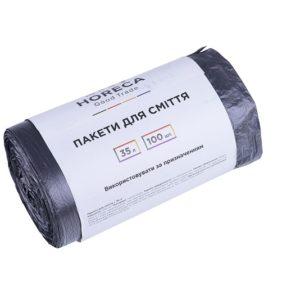 Пакеты д/мусора Horeca Good Trade черные, 35л/100шт, (30шт/уп)