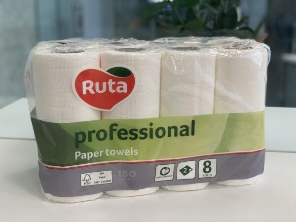 "Полотенца бумажные ""Ruta"" Professional, 2-слоя, 9.5 метра, 8 рул."