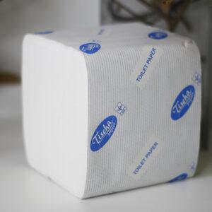 Туалетная бумага листовая Тиша 250 листов