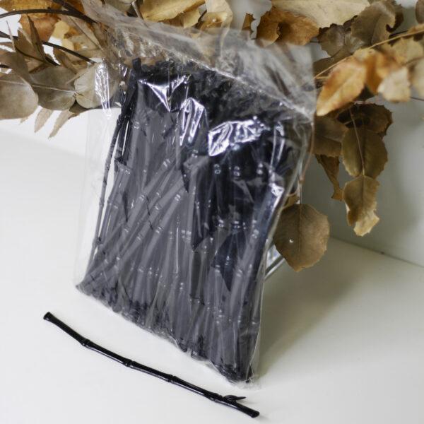 Мешалка бамбук черный, 210мм