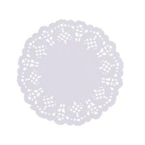 Салфетка ажурная белая