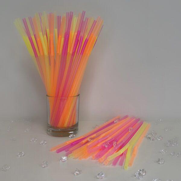 Трубочка Артистик люминесцентная 100шт 32см*6мм
