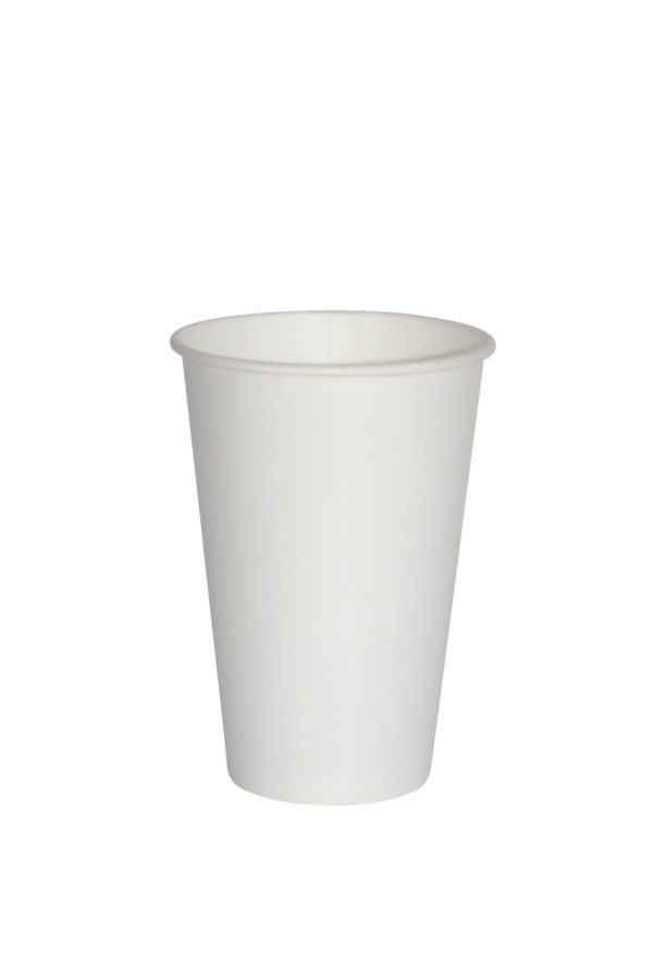 бумажный одноразовый стакан белый