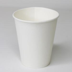 Бумажный стакан белый без рисунка 175мл