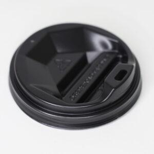 Крышка 76 мм с поилкой чёрная (одност 250мл) 50шт/уп