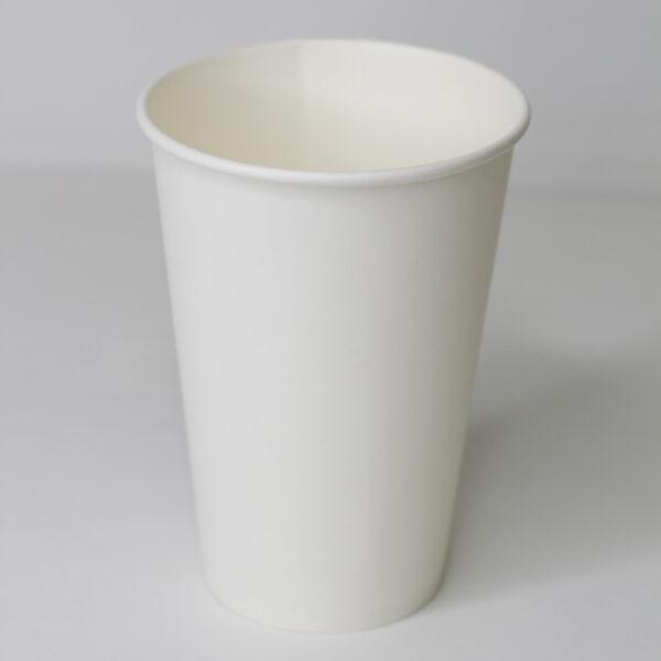 Бумажный стакан белый без рисунка 340 мл (50 шт. уп.) Ø79мм