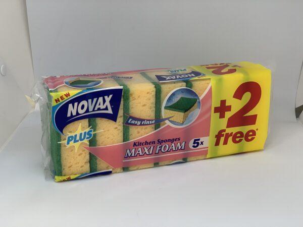 Губки Кухонные Novax Plus Maxi Foam 5+2/уп