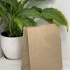 Пакет коричневый с прямоугольным дном без ручек 335*260*140 (350шт/ящ), 805