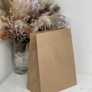 Пакет коричневый 335*260*140 с кручеными ручками (150 шт/ящ) 55172, 808