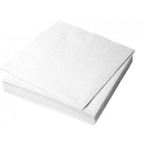 Салфетки бумажные белые 33*33 см, 1сл