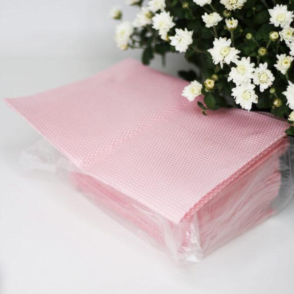 Салфетки для пациента стоматологические розовые, 25шт/уп, (20шт/ящ)