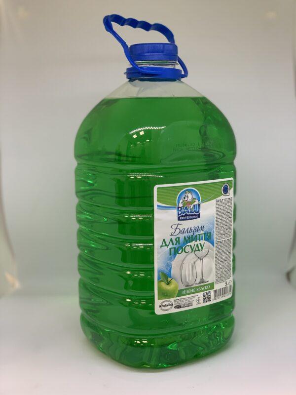 """Бальзам для мытья посуды """"Зеленое яблоко"""" BALU пет. 5л"""