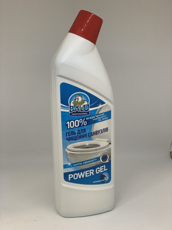 """Гель для чистки санузлов """"Морской бриз"""" BALU POWER GEL, 1л"""