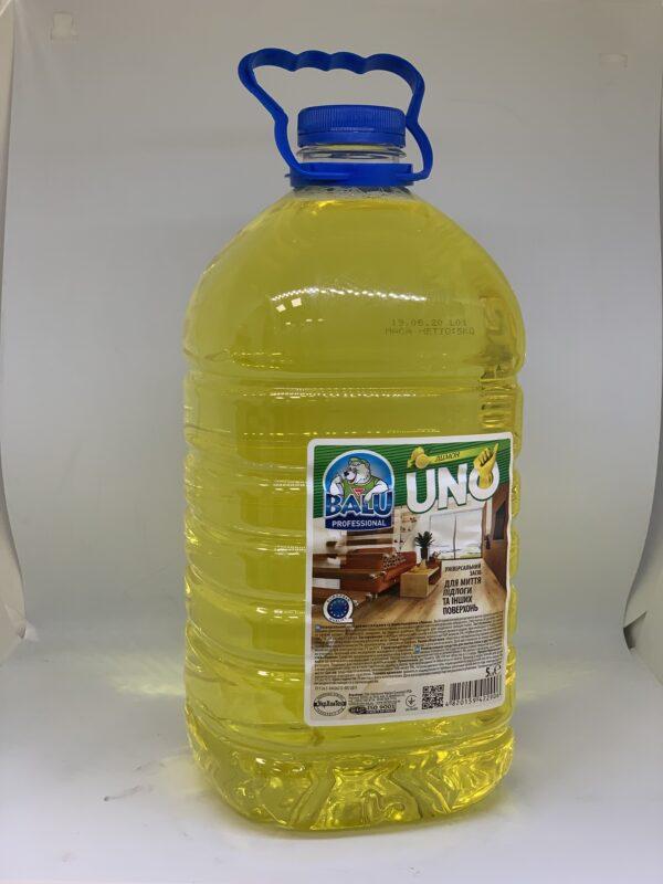"""Универсальное средство для мытья пола и других поверхностей """"Лимон"""" BALU UNO, 5л."""