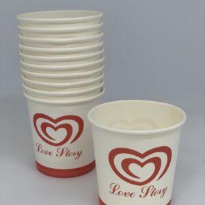 Бумажный стакан Love Story 110мл, 50шт/уп