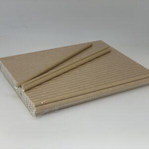 Трубочка бумажная, крафт, 6*190мм, 100шт/уп