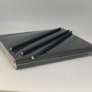 Трубочка бумажная, чёрная, 6*190мм, 100шт/уп