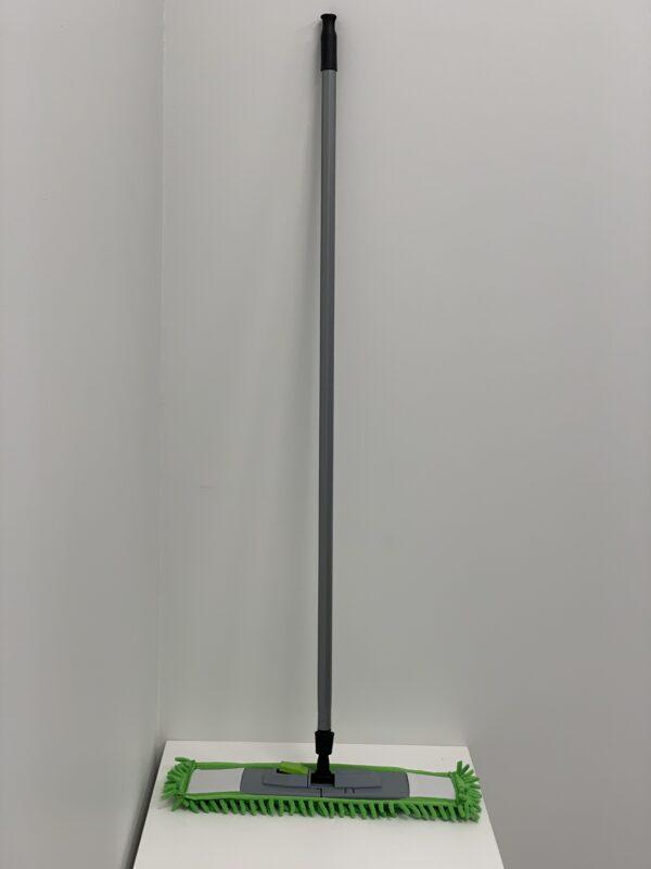 """8044 Шварба - Полотер Зеленая """"Лапша"""" 40см, с металическим кием 110см"""