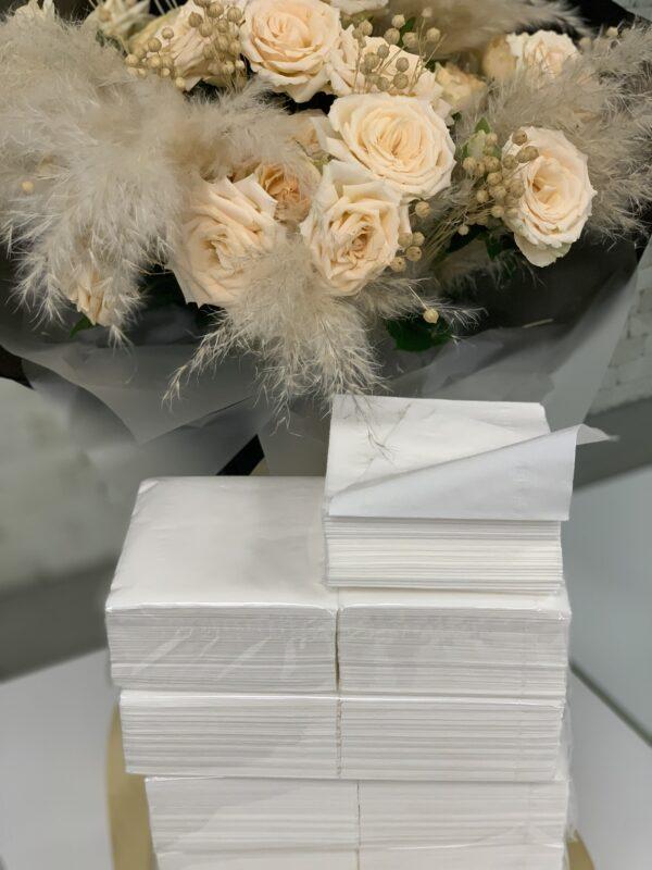 """KN004 Салфетки косметические """"Horeca"""" Professional V сложения, белые, 20*10, 2 слоя, 300 листов, P"""