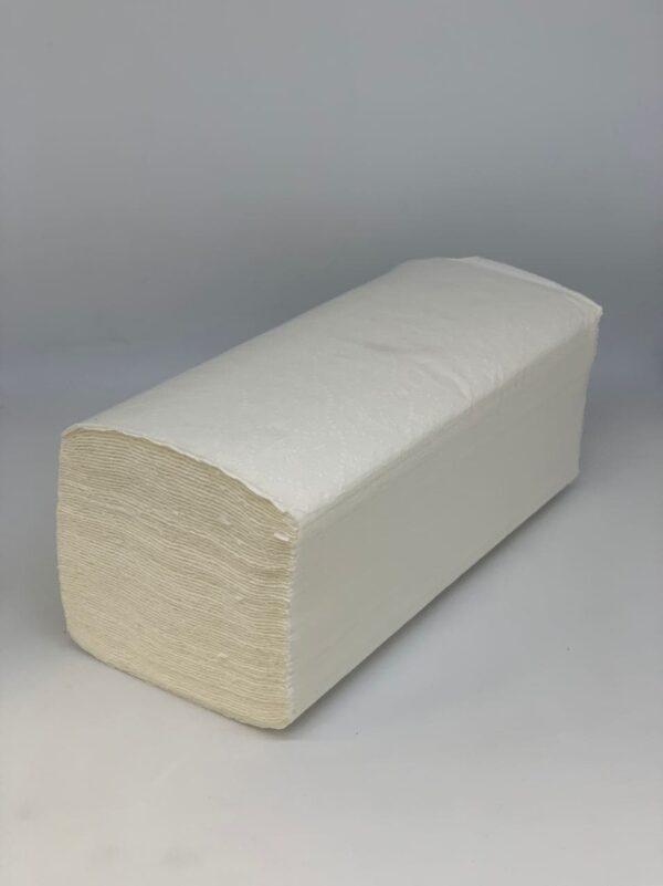 Полотенце бумажное целлюлозное Vскл. белые, 2сл, 150шт/уп, P