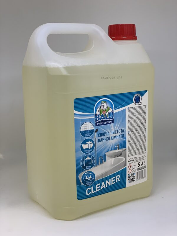 """Профессиональное средство для мытья сантехники и керамики Balu """"Clean"""", 5л"""
