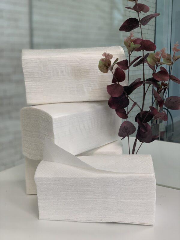 Полотенце бумажное V сложения целлюлозное, 2 слоя ,150 листов, NEW LUX, М
