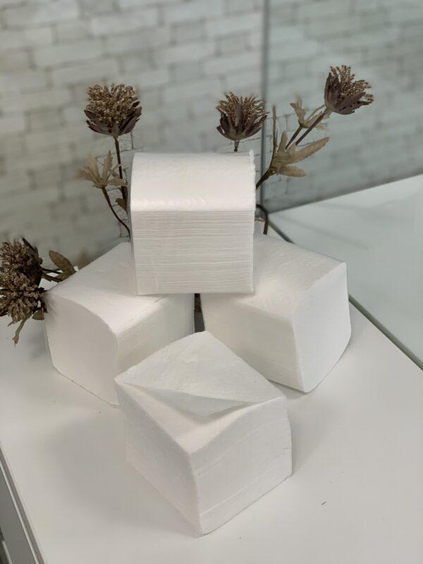 Туалетная бумага V cложения целлюлозная, 2 слоя, 200 листов, белая, NEW LUX, М