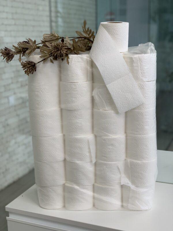 Туалетная бумага целлюлозная, белая, 2 слоя,15 м, 48 рул/уп, М