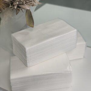 Полотенце бумажное целлюлозное V сложения белые, 2 слоя, 160 листовуп, PRV