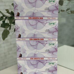 Перчатки виниловые неопудренные смотровые