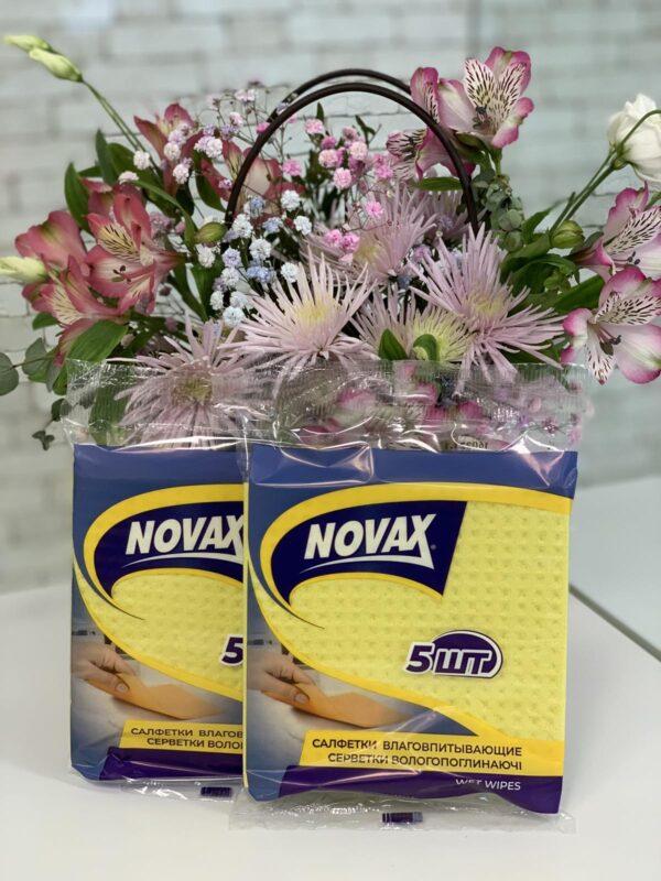 Салфетки влаговпитывающие NOVAX, 5шт/уп, (30уп/ящ) 6641NV