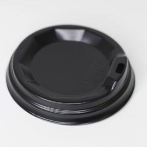 Крышка 88 мм с поилкой, черная (крафт 400мл) 50шт/уп