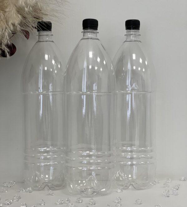 Бутылка 2л прозрачная с крышкой