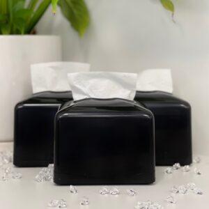 Диспенсер Rulopak для бумажных салфеток, центральная вытяжка, черный , пластик (R1332)