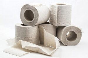 серая туалетная бумага