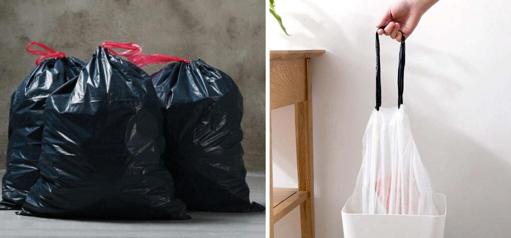 мусорные пакеты с затяжками