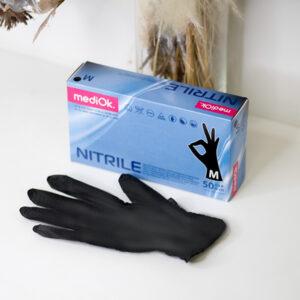 Перчатки нитриловые ЧЕРНЫЕ MediOk