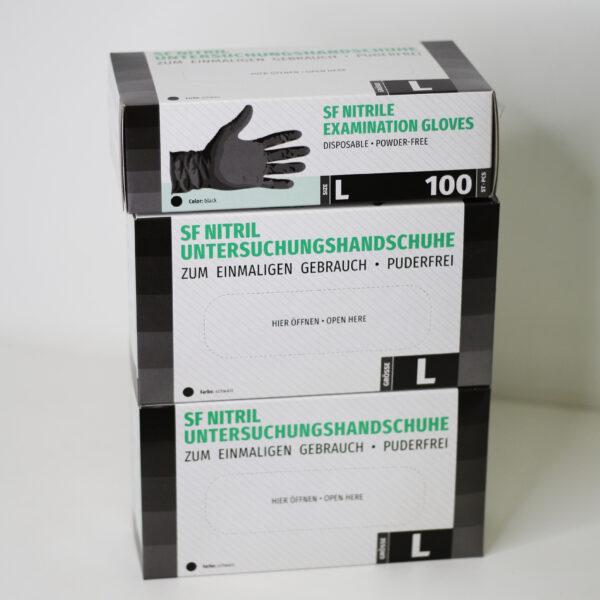 Перчатки нитриловые ЧЕРНЫЕ SF NITRIL