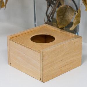 Диспенсер деревянный (куб)